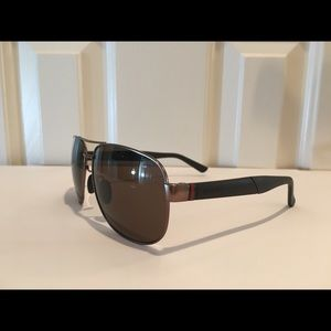 👓Gucci Polarized Pewter w/ green & red stripe New